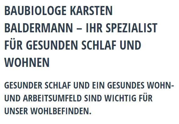 Baubiologie Service aus Höchberg