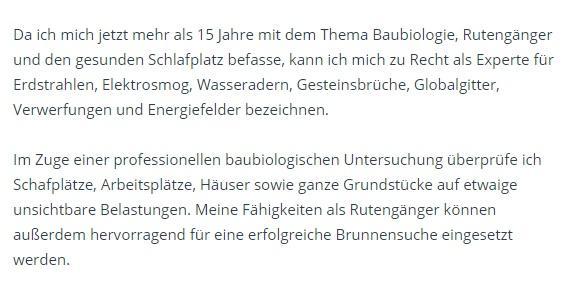 Erdstrahlen Elektrosmog aus  Erfurt